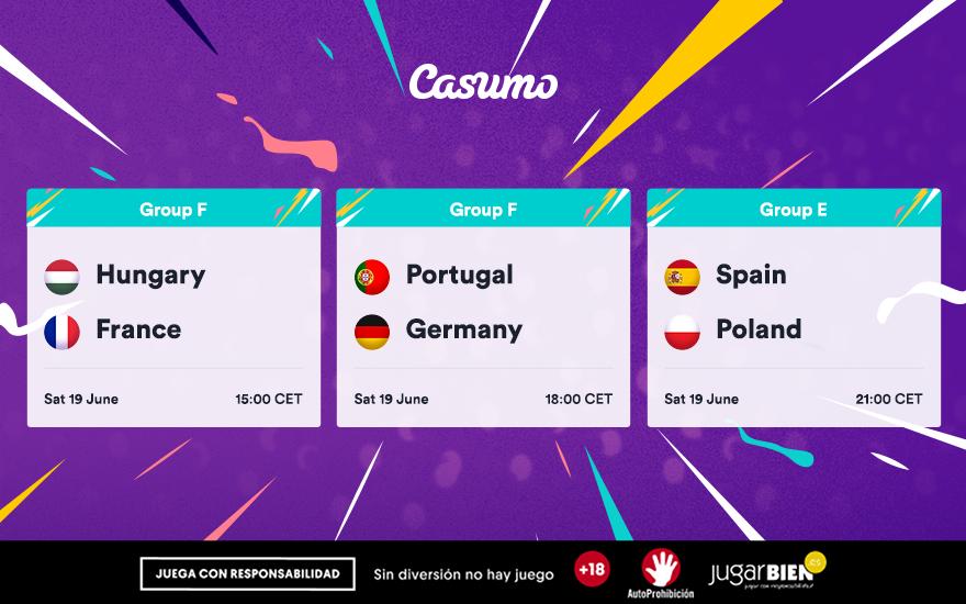 Pronósticos Eurocopa 2021. Sábado 19/06, España-Polonia y mucho más
