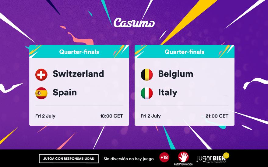 Pronósticos Eurocopa 2021. Viernes 02/07: Suiza-España y mucho más