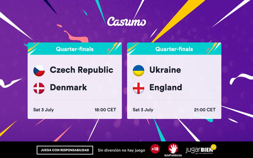 Pronósticos Eurocopa 2021. Sábado 03/07: Ucrania-Inglaterra y mucho más