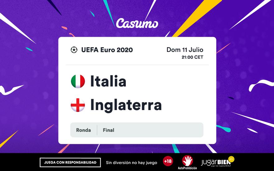Pronósticos de la Eurocopa 2021: Domingo 11/07, Italia - Inglaterra
